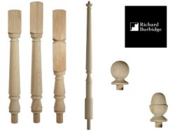 hemlock-newel-posts