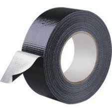 Black Cloth Tape 50mm x 50m