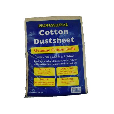 Cotton Dust Sheet 2.7 x 3.6m