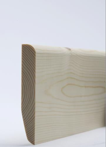 19 x 100mm Nom. Redwood Chamfered & Rounded Skirting. Premium Grade
