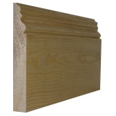25 x 125mm Nom. Redwood Pattern 119 Skirting. Premium Grade