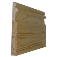 25 x 200mm Nom.Redwood 2 Part Skirting Patt 182. Premium Grade