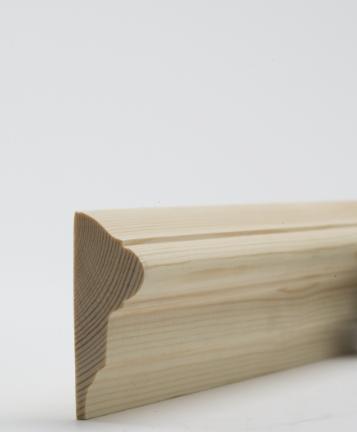 25 x 63mm Nom. Redwood Dado Rail. Premium Grade - D6