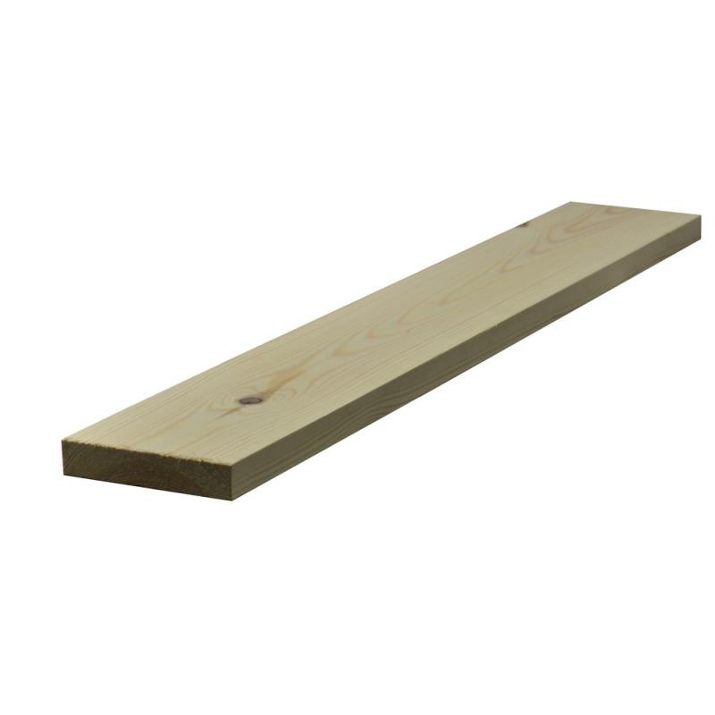 32 x 138mm Nom. Planed Redwood. Standard Grade