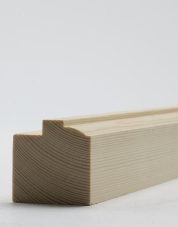 38 x 50mm Nom. Redwood Sash Stile. Premium Grade