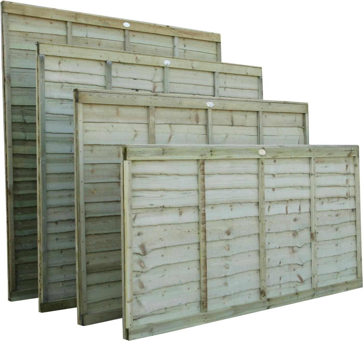 1830 x 1220mm Superlap Fence Panel (Professional) Green