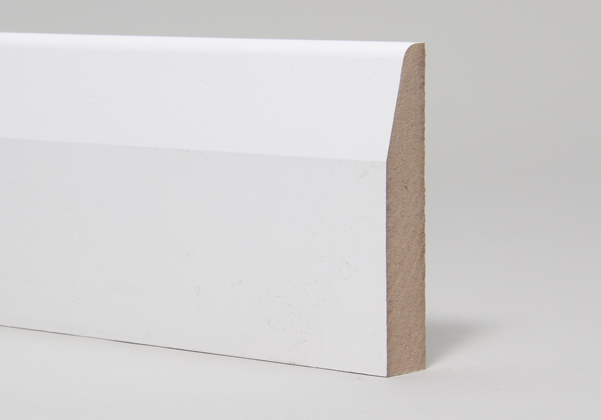 15 x 94mm Primed MR MDF Chamfered & Rounded Skirting