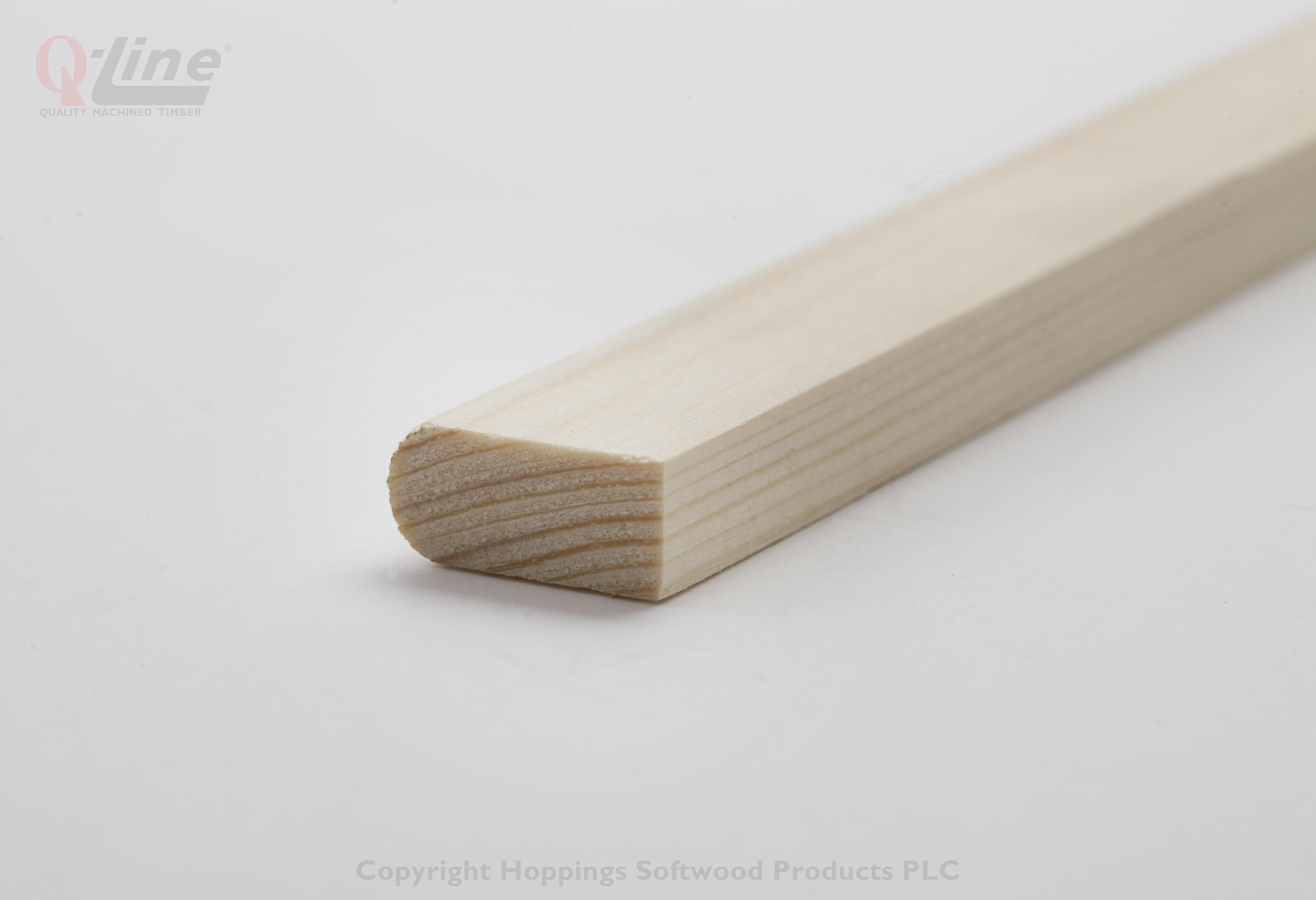 12 x 32mm Nom. Redwood Parting Bead. Premium Grade