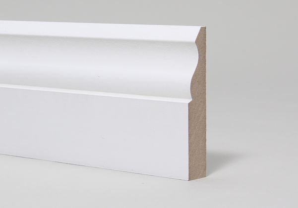 15 x 94mm Primed MR MDF Ogee Skirting