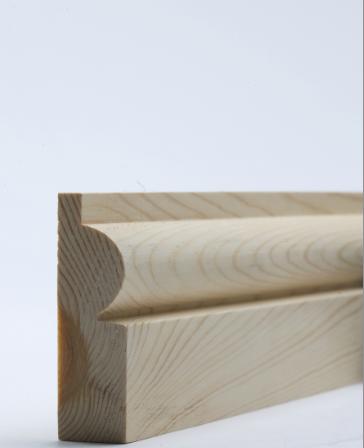 25 x 75mm Nom. Redwood Torus Architrave. Premium Grade