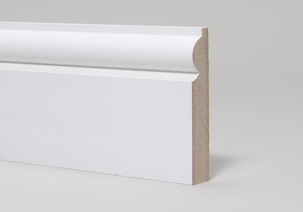 15 x 94mm Primed MR MDF Torus Skirting