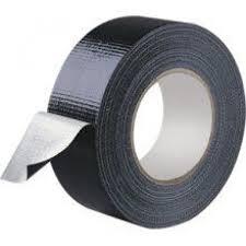 Black Cloth Tape 50mm x 50m