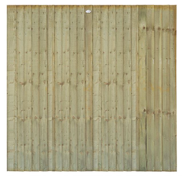 1830 x 1500mm Stnd Feather Edge Fence Panel  Green (SFEP5G)