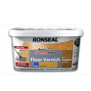 Ronseal Diamond Hard Floor Varnish Clear 2.5 Lt