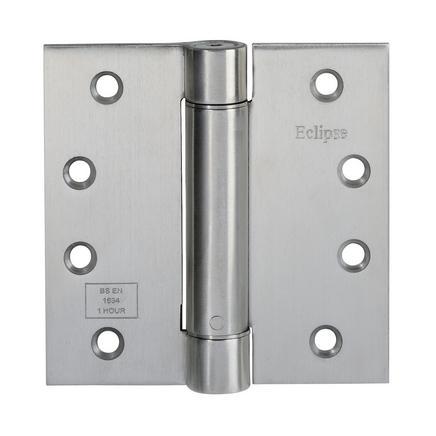 Self Closing Door Hinge Pack Satin Stainless Steel 4