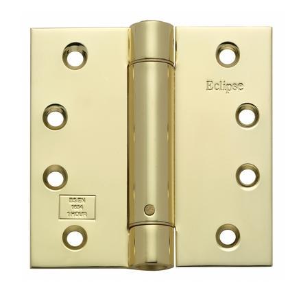 Self Closing Door Hinge Pack Electro Brass 4