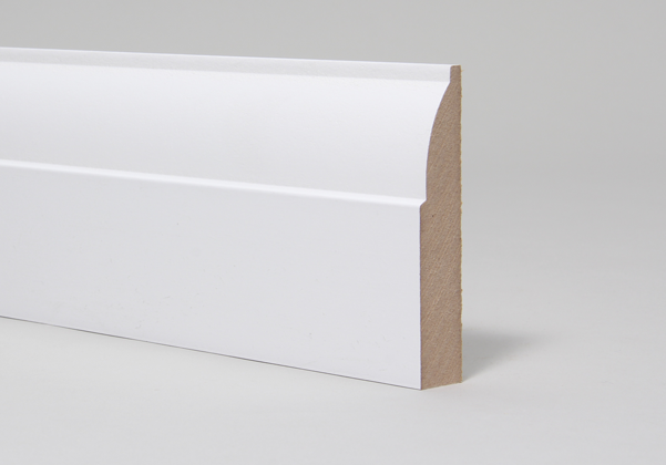 18 x 144mm Primed MR MDF Ovolo Skirting